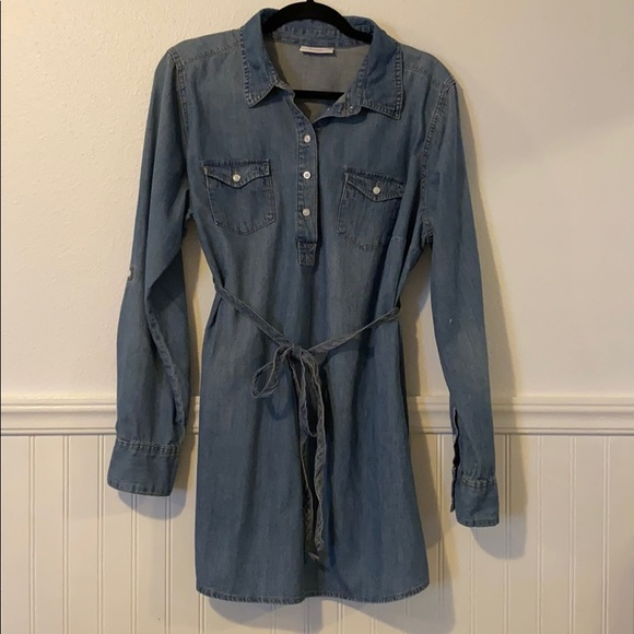 Liz Lange Tops - LIZ LANGE Maternity Denim Tunic Shirt XL